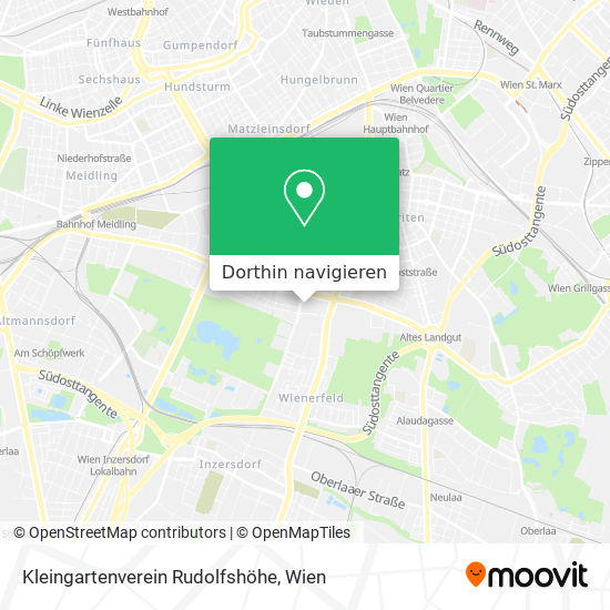 Kleingartenverein Rudolfshöhe Karte