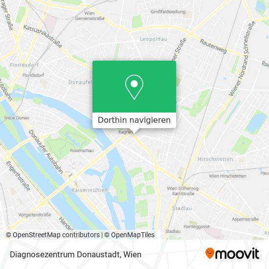 Diagnosezentrum Donaustadt Karte