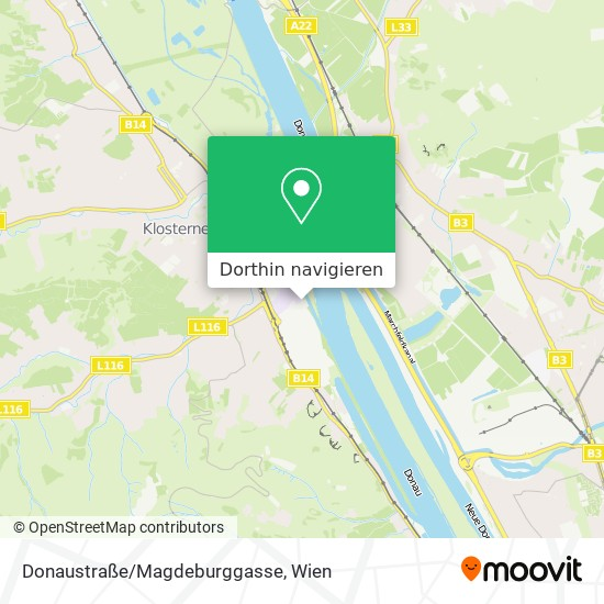 Donaustraße/Magdeburggasse Karte