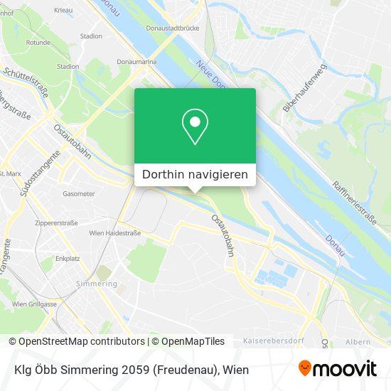 Klg Öbb Simmering 2059 (Freudenau) Karte