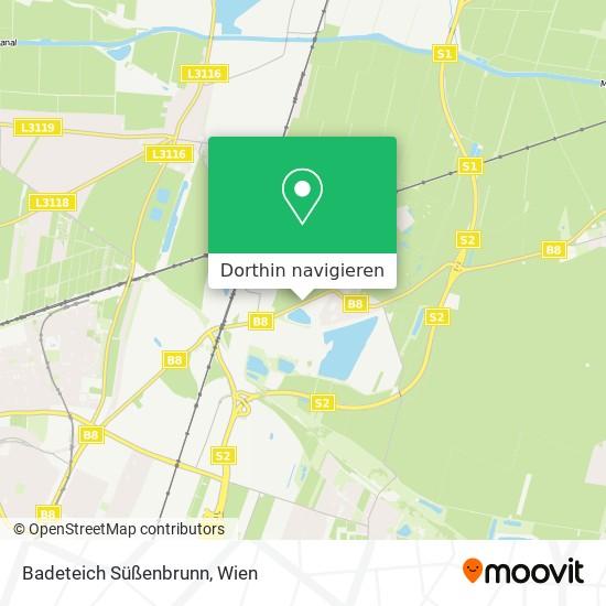 Badeteich Süßenbrunn Karte