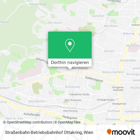 Straßenbahn-Betriebsbahnhof Ottakring Karte