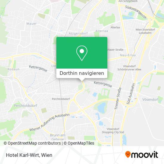 Hotel Karl-Wirt Karte
