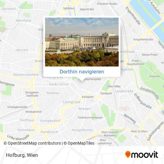 Hofburg Karte