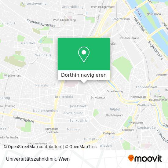 Medizinische Universität Wien – Zahnklinik Karte