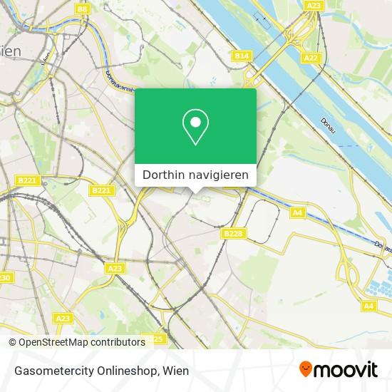 Gasometercity Onlineshop Karte