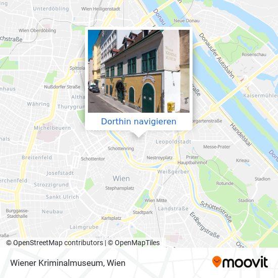 Wiener Kriminalmuseum Karte