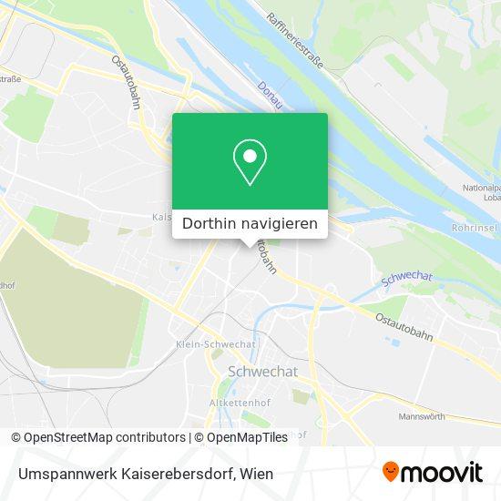 Umspannwerk Kaiserebersdorf Karte