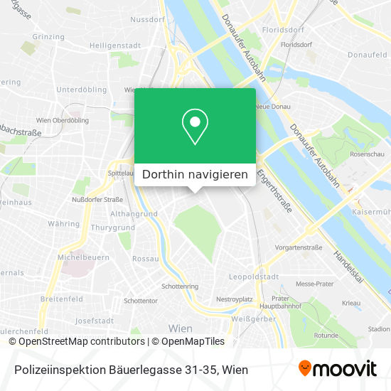 Polizeiinspektion Bäuerlegasse 31-35 Karte