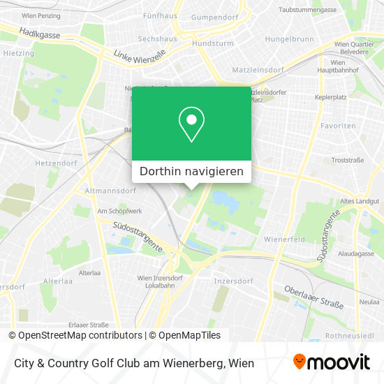 City & Country Golf Club Am Wienerberg Karte