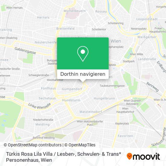 Rosa Lila Villa / Lesben- & Schwulenhaus Karte
