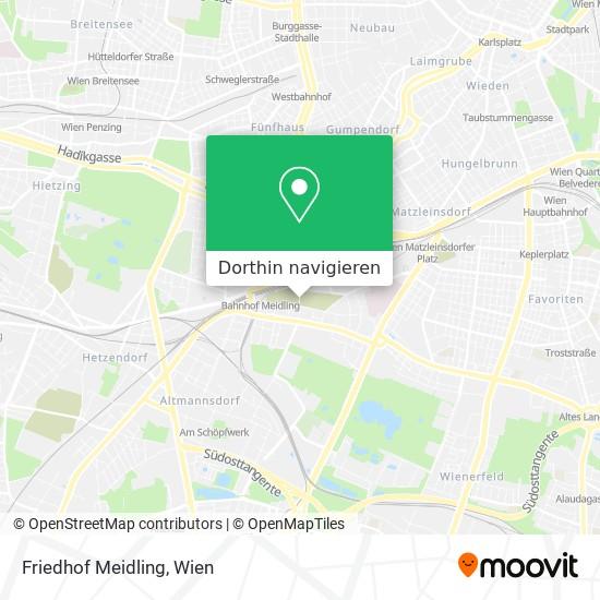 Friedhof Meidling Karte