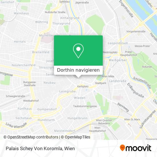 Palais Schey Von Koromla Karte