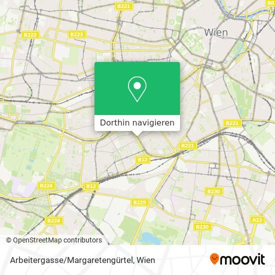 Arbeitergasse/Margaretengürtel Karte