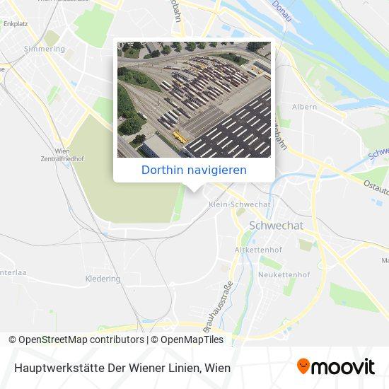Hauptwerkstätte Der Wiener Linien Karte