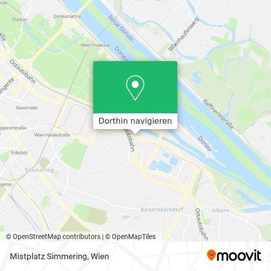Mistplatz Simmering Karte