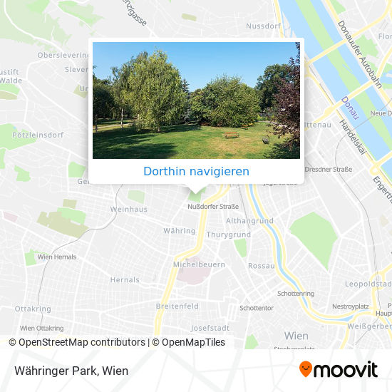 Währinger Park Karte