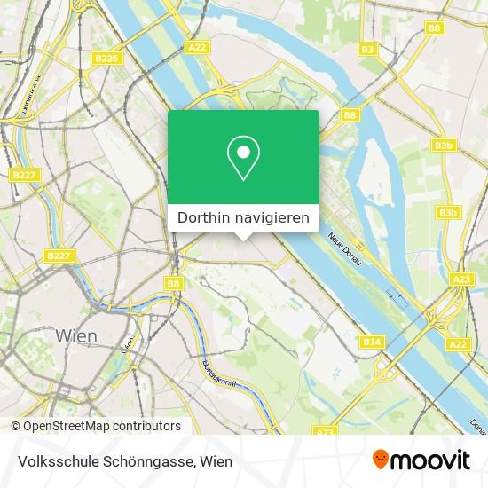 Volksschule Schönngasse Karte