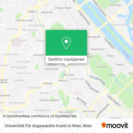 Universität Für Angewandte Kunst In Wien Karte