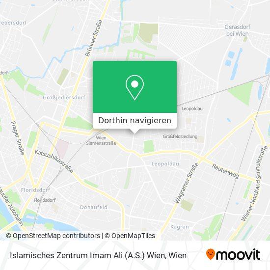 Islamisches Zentrum Imam Ali (A.S.) Wien Karte