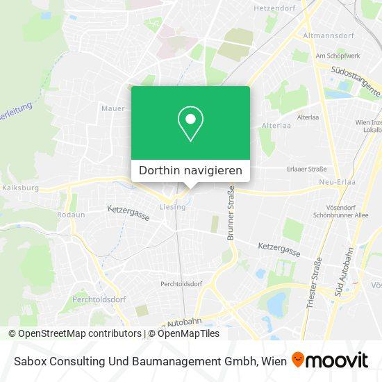 Sabox Consulting Und Baumanagement Gmbh Karte