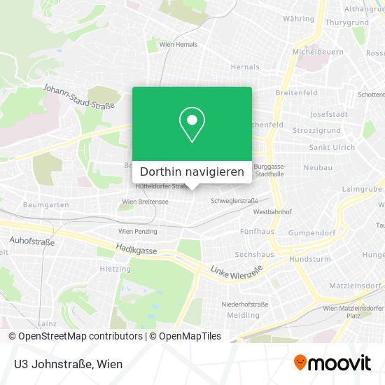 U3 Johnstraße Karte