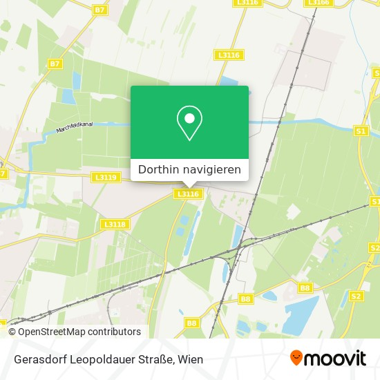 Gerasdorf Leopoldauer Straße Karte