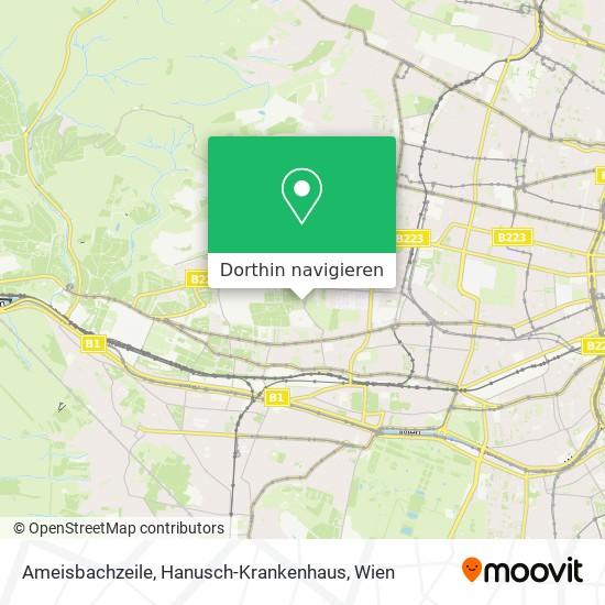 Ameisbachzeile, Hanusch-Krankenhaus Karte