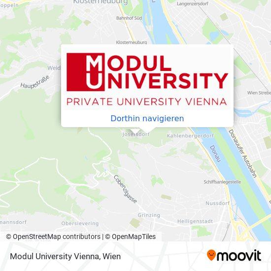 Modul University Vienna Karte