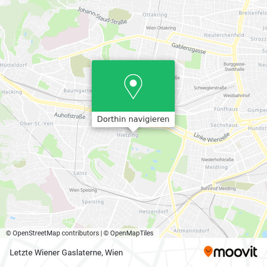 Letzte Wiener Gaslaterne Karte
