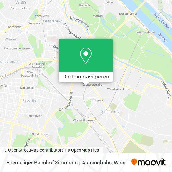 Ehemaliger Bahnhof Simmering Aspangbahn Karte