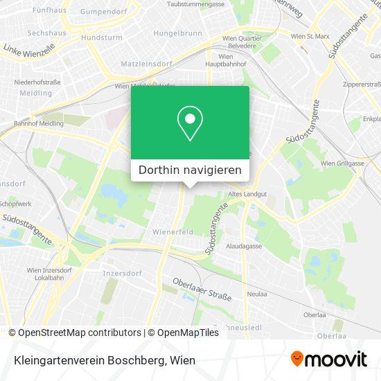 Kleingartenverein Boschberg Karte