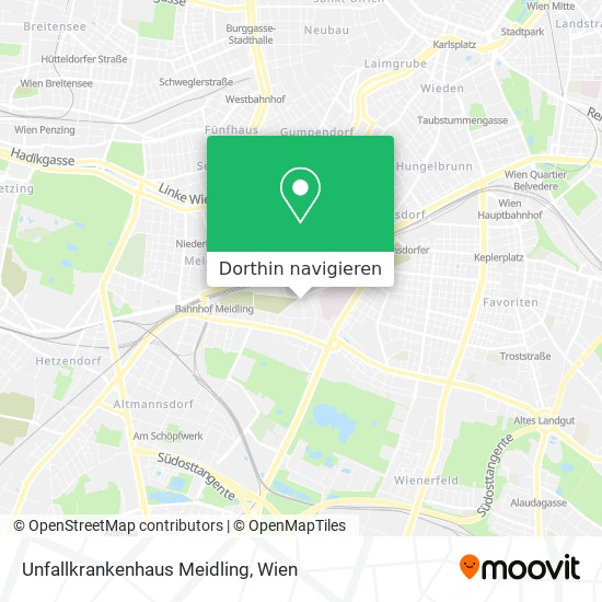 Unfallkrankenhaus Meidling Karte