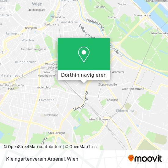 Kleingartenverein Arsenal Karte