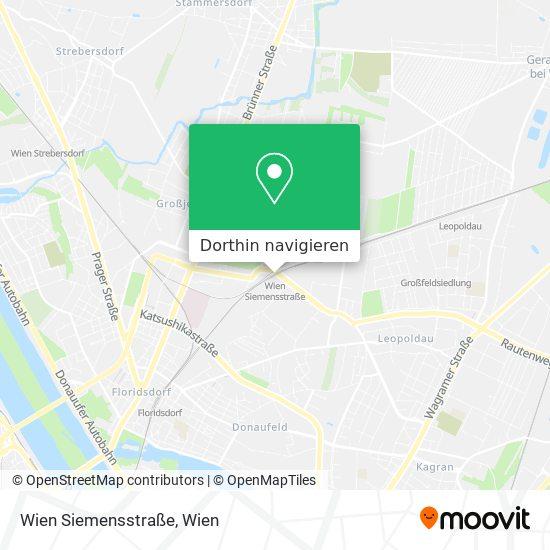 Wien Siemensstraße Karte