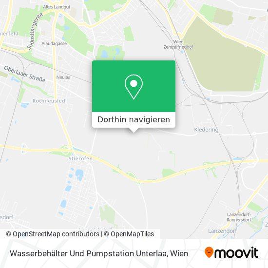 Wasserbehälter Und Pumpstation Unterlaa Karte