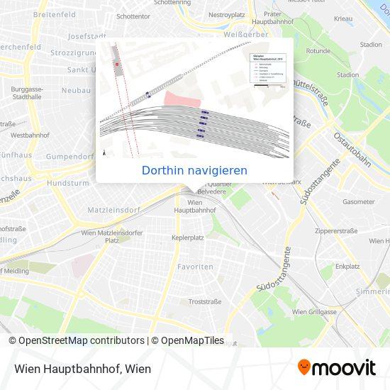 Wien Hauptbahnhof Karte
