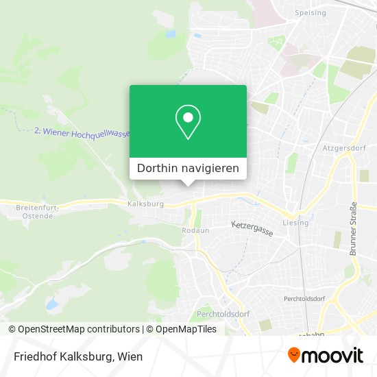 Friedhof Kalksburg Karte