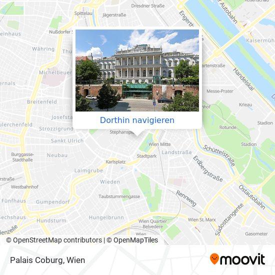 Palais Coburg Karte