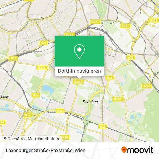 Laxenburger Straße/Raxstraße Karte