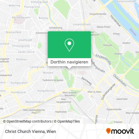 Christ Church Vienna Karte