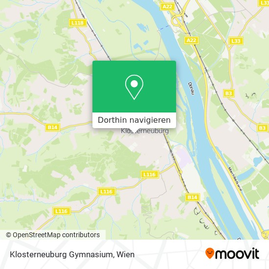 Klosterneuburg Gymnasium Karte