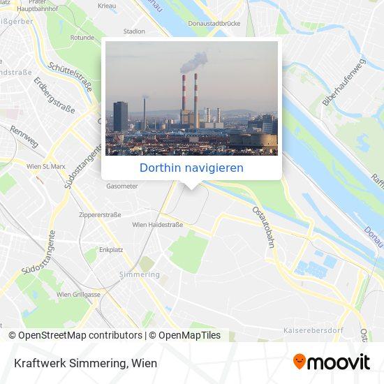 Kraftwerk Simmering Karte