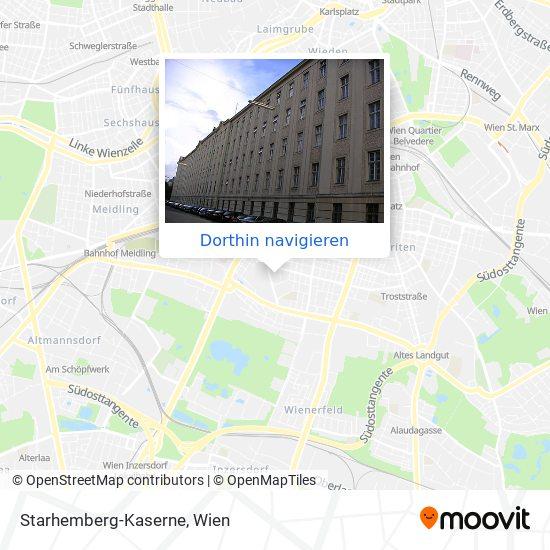 Starhemberg-Kaserne Karte