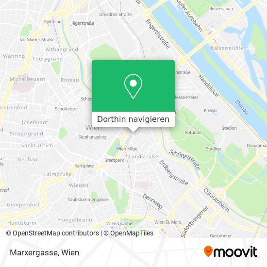 Marxergasse Karte