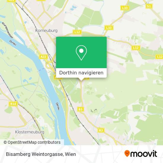 Bisamberg Weintorgasse Karte
