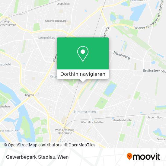 Gewerbepark Stadlau Karte