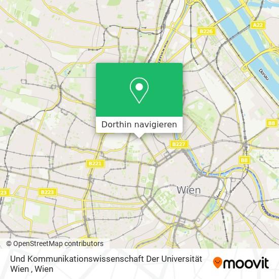 Und Kommunikationswissenschaft Der Universität Wien Karte