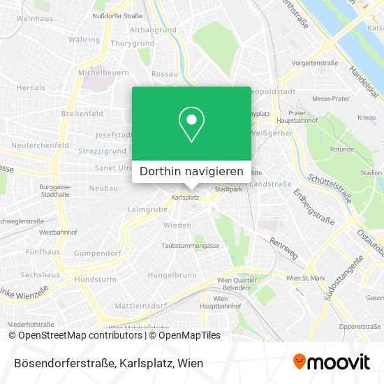 Bösendorferstraße, Karlsplatz Karte