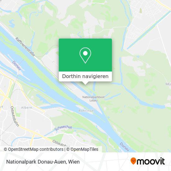 Nationalpark Donau-Auen Karte